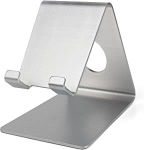 DURAGADGET Ultra-Contemporary Metal Smartphone Stand in Silver Aluminium - Suitable for Acer Iconia Talk S A1-724