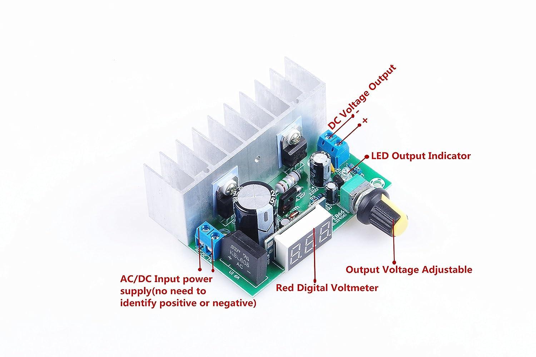 Lm317 Buck Voltage Converter Regulated Power Supply Understanding This Led Driver Circuit Electrical Engineering Module Dc 24v To 12v Display Voltmeter Volt Regulator 0 35v Ac 28v