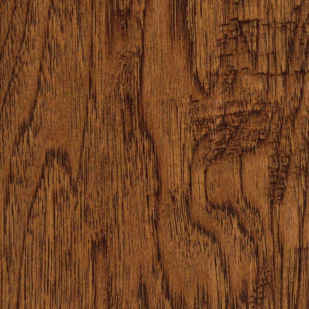 Hand Scraped Distressed Palmero Hickory 3/8 in. Thick x 5 in. Wide x 47-1/4 in. Length Click Lock Hardwood Flooring