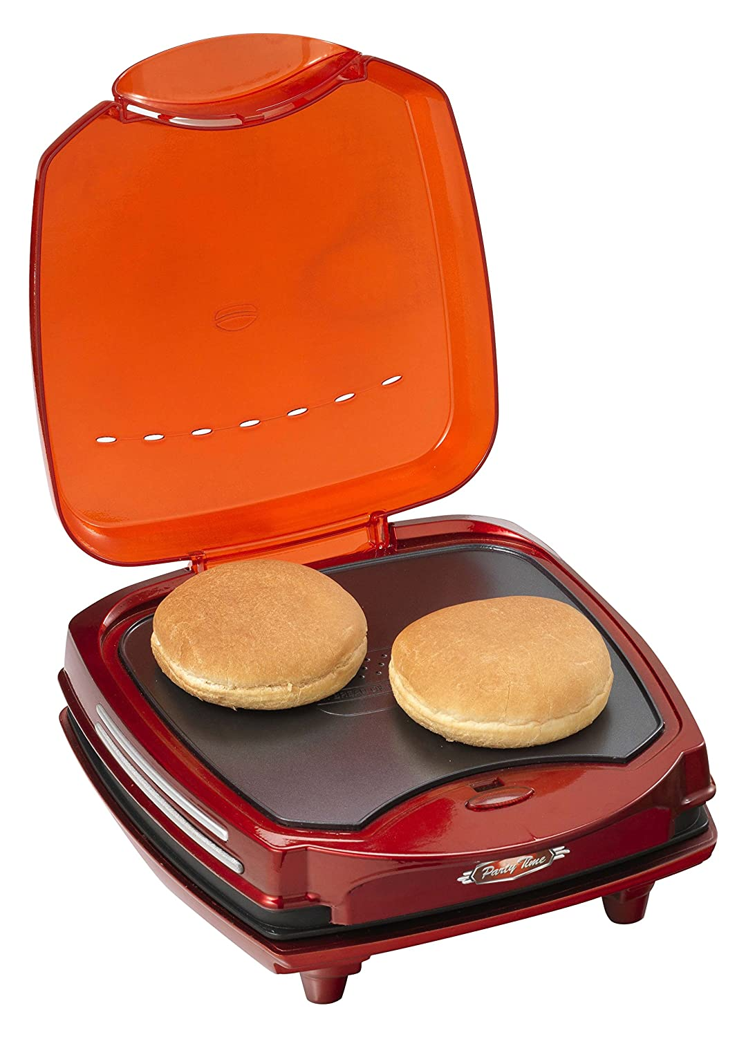 Ariete 185 Maquina DE Hamburguesas Party Time, 1200 W, Grate + Griddle, Negro, Rojo: Amazon.es: Hogar
