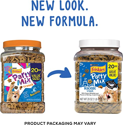 Friskies Party Mix Adult Cat Treats Canisters Real Ocean Whitefish 1 Ingredient