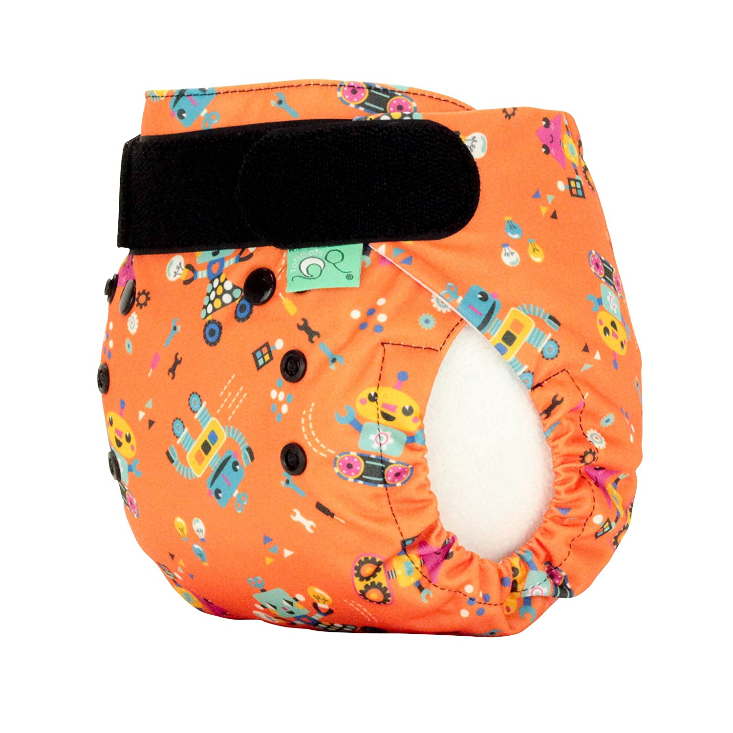 TotsBots Bamboozle Washable Reusable Nappy Size 1 6 to 18 lbs Roar Design