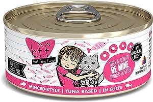 Best Feline Friend (B.F.F.) Grain-Free Cat Food by Weruva, Tuna & Bonito Be Mine, 5.5-Ounce Can (Pack of 24)