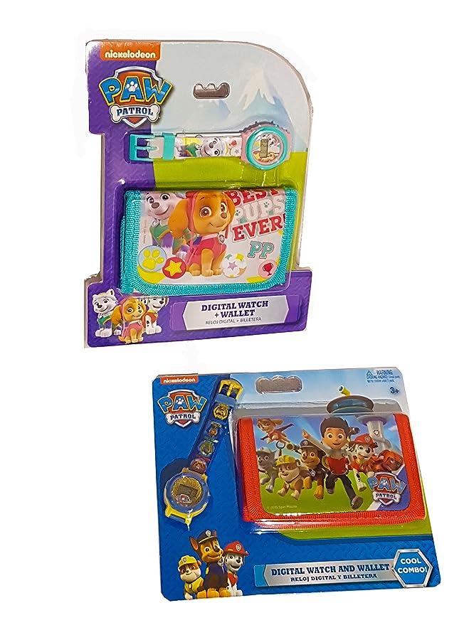 Set de Billetera Y Reloj Patrulla Canina Para Niño Y Niña Paw Patrol Skye Everest Marshall Rocky Zuma Chase Rubble Set regalo Kids Paw Patrol gift set ...