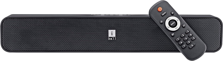 iBall Musi Bar High Power Compact Soundbar with Multiple Playback Options, Black