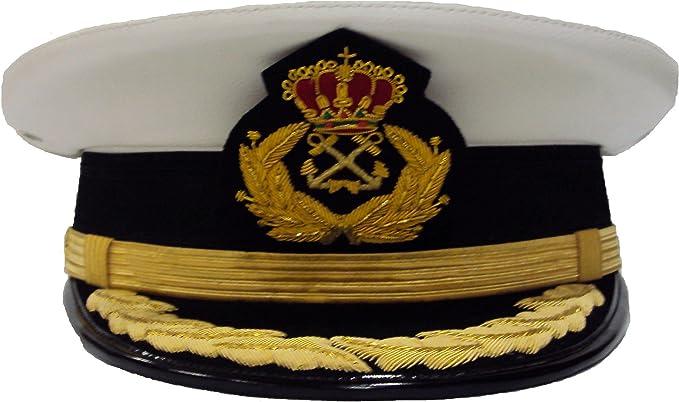 Gorra de Plato Capitán de Yate laureles en Visera (53): Amazon.es ...