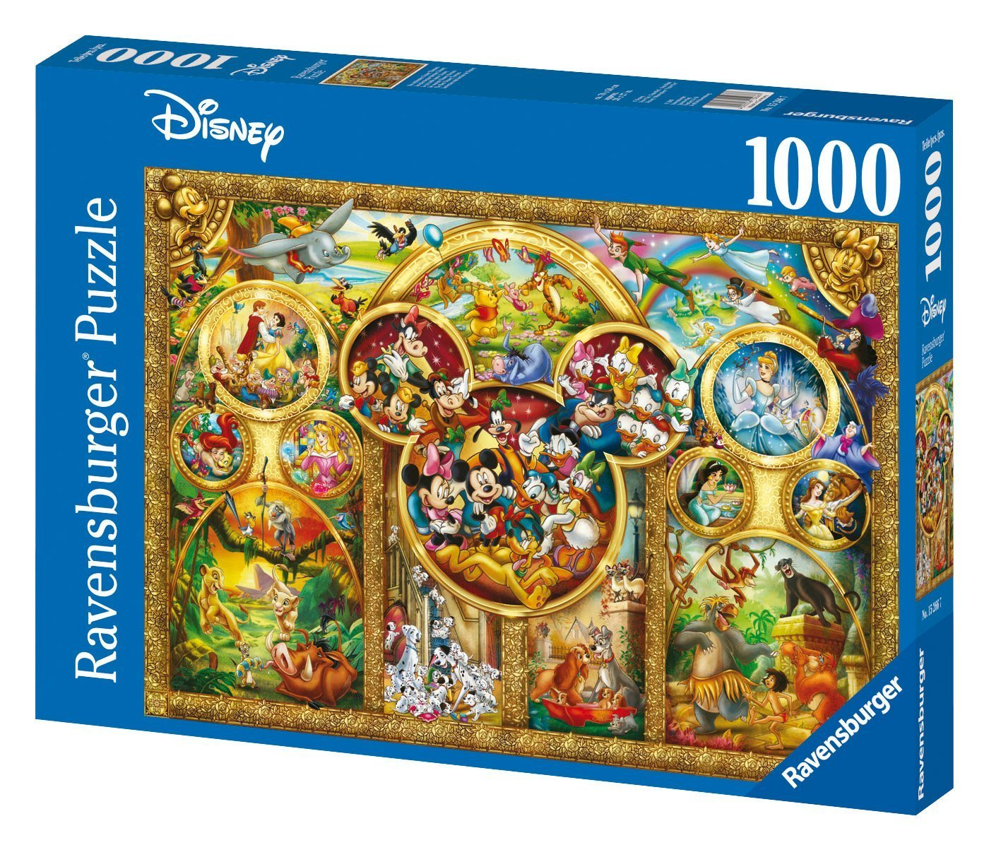 Disney Masterpiece Panarama Puzzle 1000 Piece Professional Soft Click Jigsaw Ages 12+