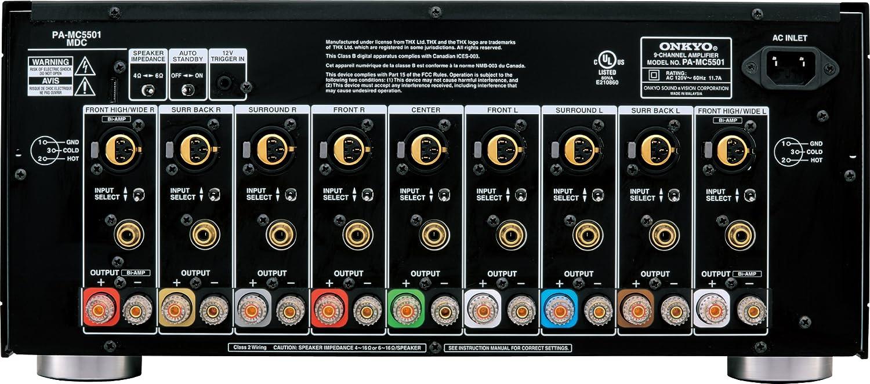 Onkyo Pa Mc5501 9 Channel Amplifier Black Electronics Speaker Ohm Wiring