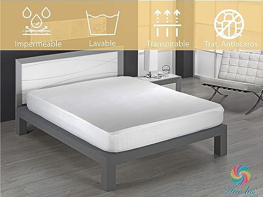 Dormio - Protector de colchón, impermeable y transpirable. 100% Algodón de Tejido Plano tamaño 80 x 190/200 (Todas Las Medidas) Modelo Naranja: Amazon.es: Hogar