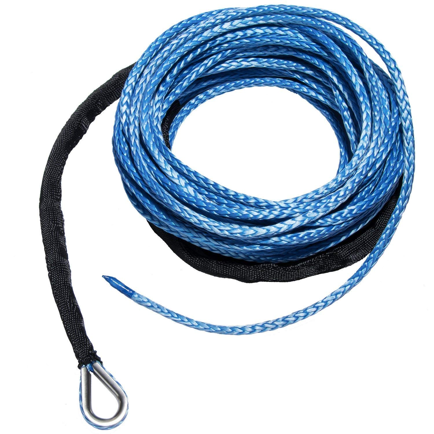Yoursme Nylon Synthetic Winch Cable Rope with Sheath for SUV ATV UTV Winches Truck Boat Ramsey Car Blue 1//4 x 50-7500LB+