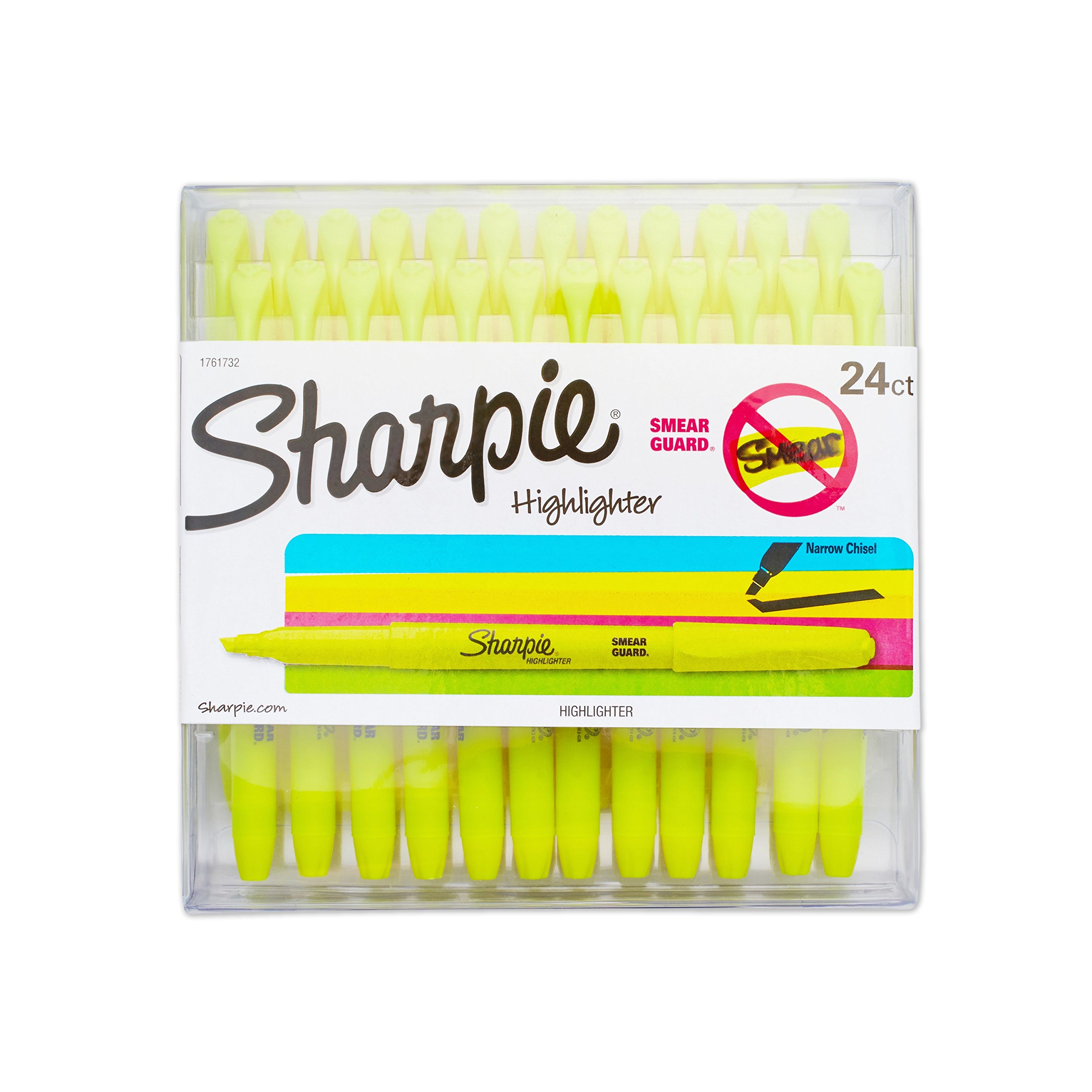 Sharpie 1761732 Accent Pocket Style Highlighter, Fluorescent Yellow, 24-Pack by Sharpie (Image #1)