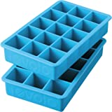 Tovolo Perfect Cube Ice Trays, Ice Blue - Set of 2