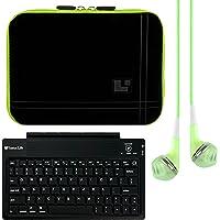 SumacLife Tablet de 20.3cm manga para Lenovo Yoga Tab 3, Yoga 28, Yoga 8con bleutooth teclado y auriculares (verde)