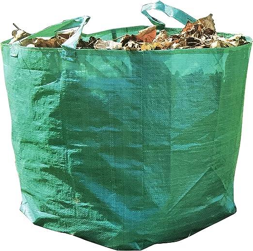 Saco de basura JustRean Garden de 90 l, para jardín, plegable, fácil de guardar, para hojas, corte verde, residuos de plantas, compost, etc.: Amazon.es: Jardín