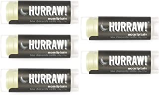 product image for Hurraw! Moon Night Treatment (Blue Chamomile, Vanilla) Lip Balm, 5 Pack: Organic, Certified Vegan, Cruelty and Gluten Free. Non-GMO, 100% Natural Ingredients. Bee, Shea, Soy and Palm Free. Made in USA