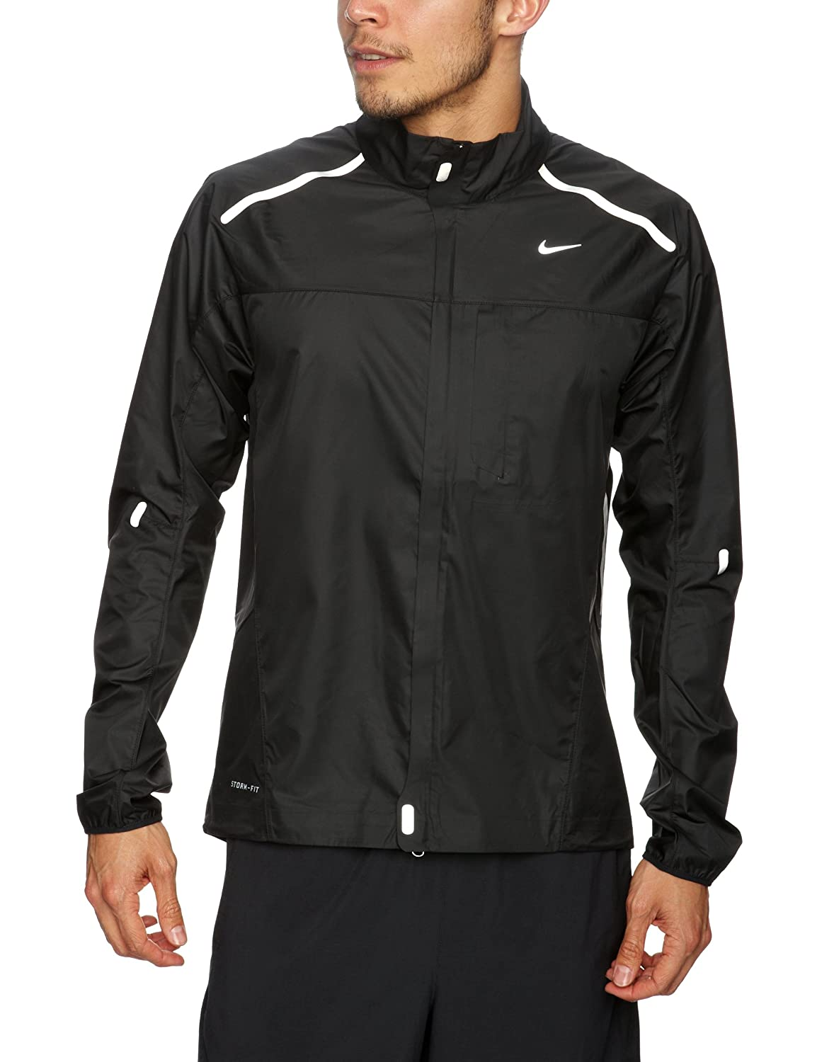bfb5aa9f1add Amazon.com  Nike Storm Fly Lightweight Running Jacket - XX Large Black   Clothing