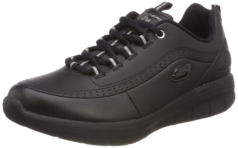 Skechers Damen Synergy 2.0 Sneaker  37 EU|Schwarz (Black)