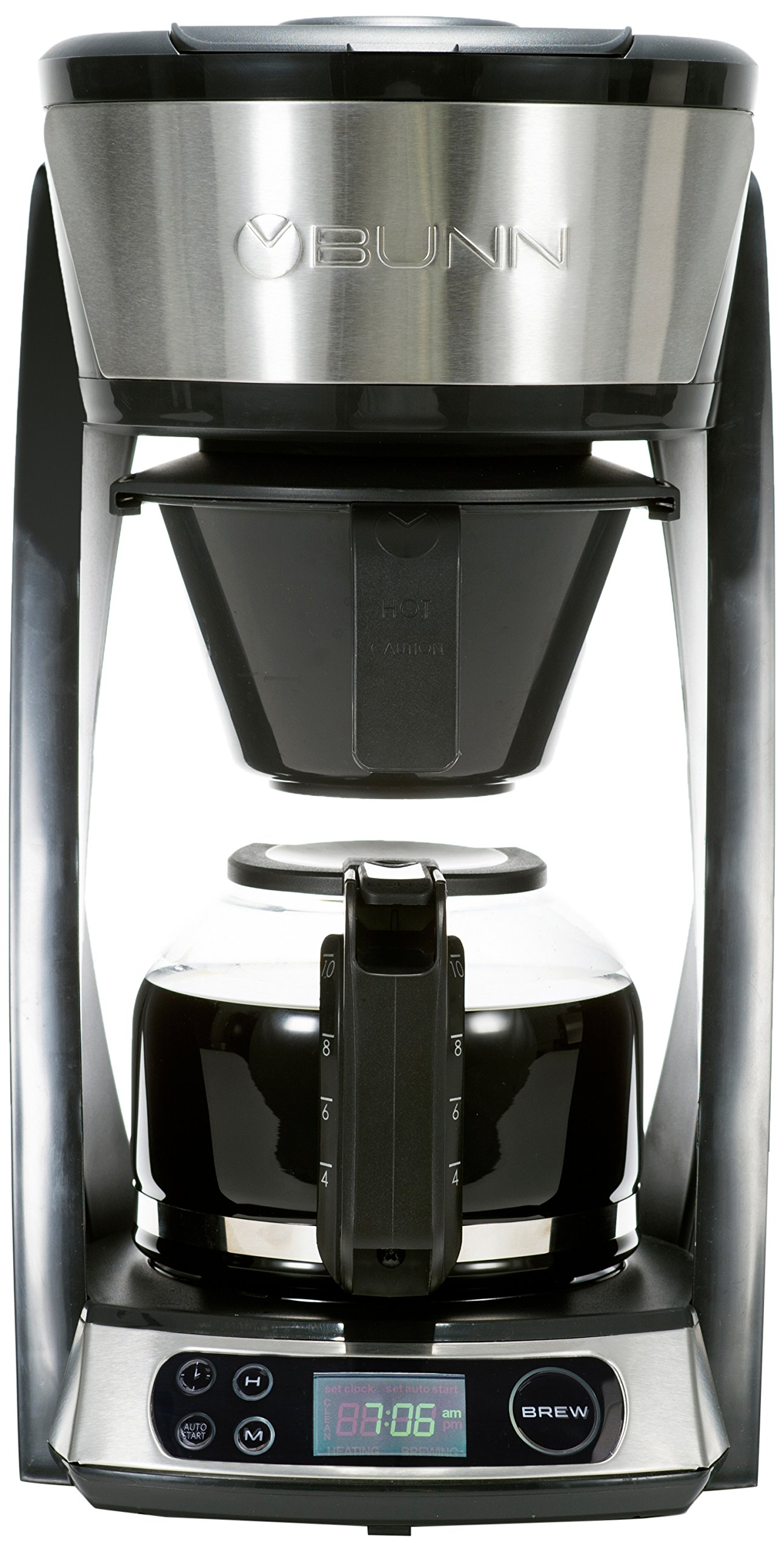BUNN HB Heat N Brew Programmable Coffee Maker 10 cup Stainless Steel by BUNN (Image #1)