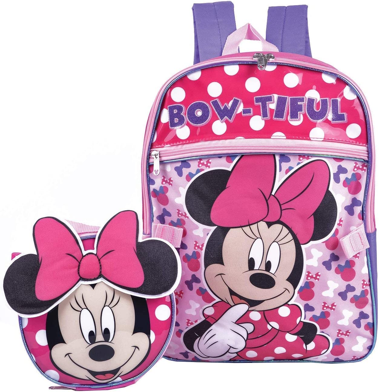 """Disney Minnie Mouse 12/"""" Back to School Backpack Small Bag NEW"""
