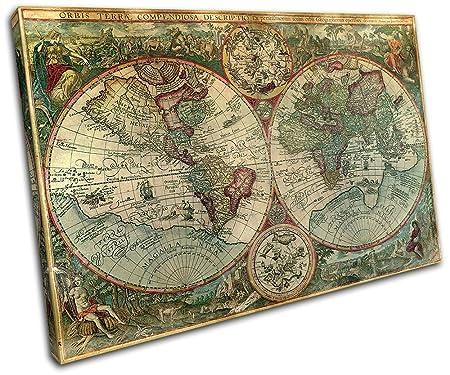 Bold bloc design old world atlas latin maps flags 120x80cm bold bloc design old world atlas latin maps flags 120x80cm canvas art print box gumiabroncs Images