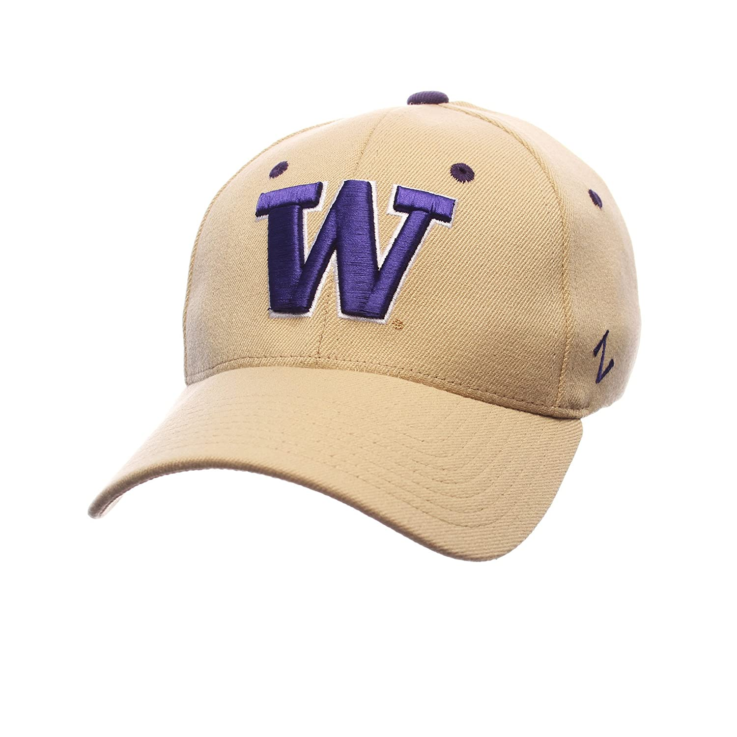 Zephyr Men 's Washington Huskies ZH Zwoolストレッチフィット帽子 Large  B01NBFZ8YV