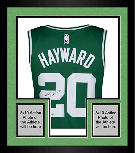376c9c9cf24 Framed Gordon Hayward Boston Celtics Autographed Green Nike Swingman Jersey  - Fanatics Authentic Certified