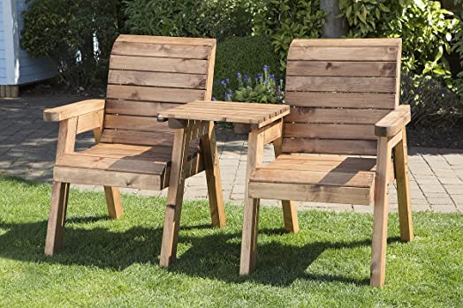 twin companion garden seat love seat bench tete a tete seats outdoor patio - Wooden Garden Furniture Love Seats