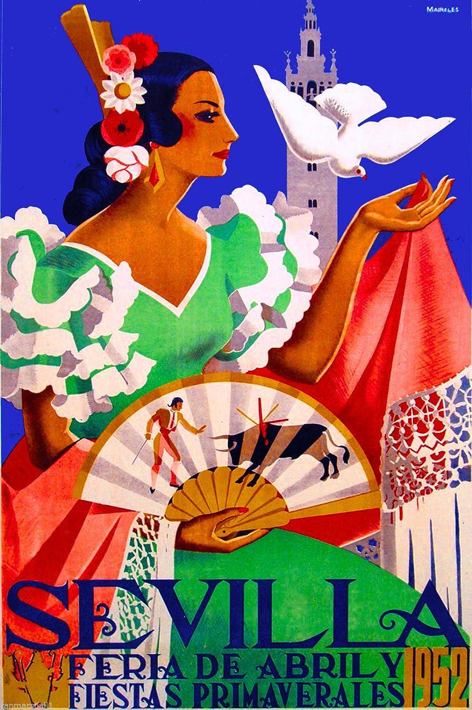 1952 feria de Sevilla Feria de Sevilla España vintage de viaje ...