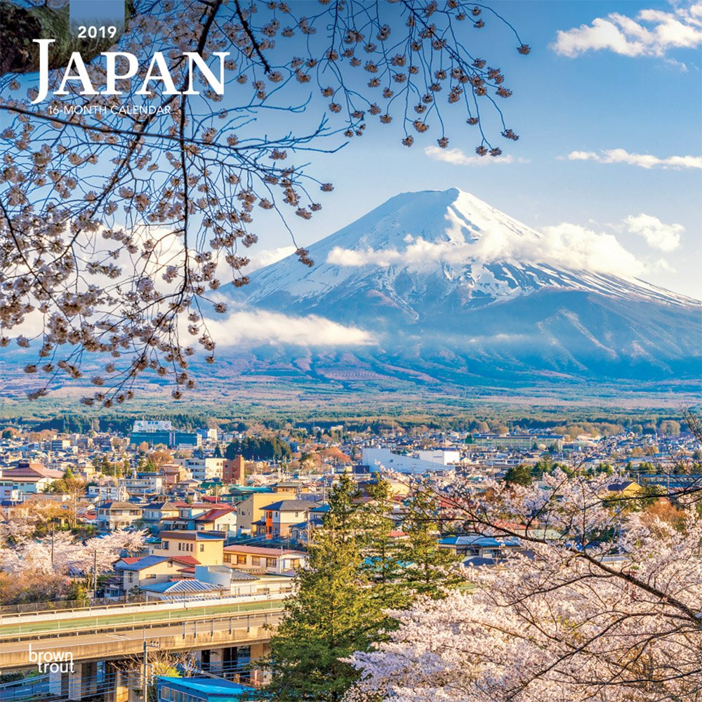 Read Online Japan 2019 12 x 12 Inch Monthly Square Wall Calendar, Scenic Travel Asia Cherry Blossoms Tokyo Kyoto Osaka (Multilingual Edition) pdf