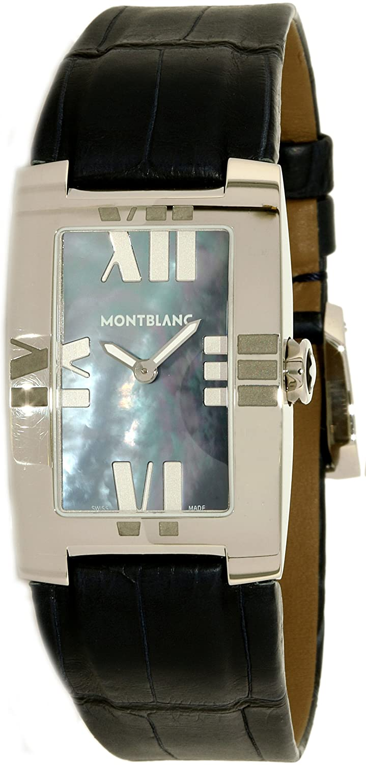 Amazon.com: Montblanc Womens Profile Elegance 104294 Blue Alligator Leather Swiss Quartz Fashion Watch: Montblanc: Watches