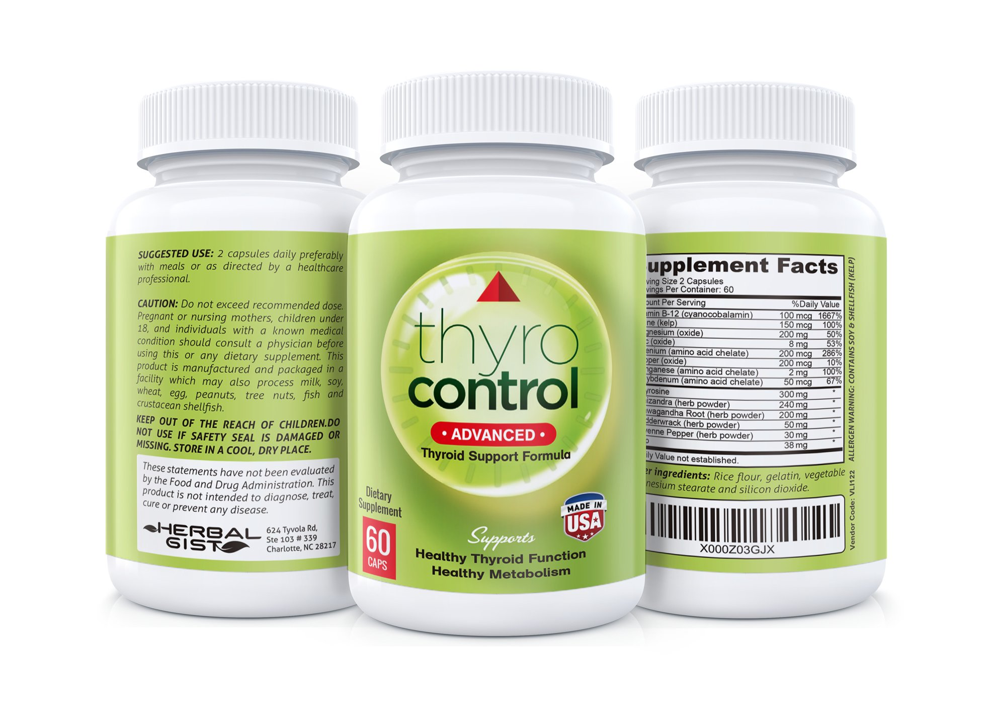 ThyroControl - Thyroid Support Supplement, 30 Day Supply