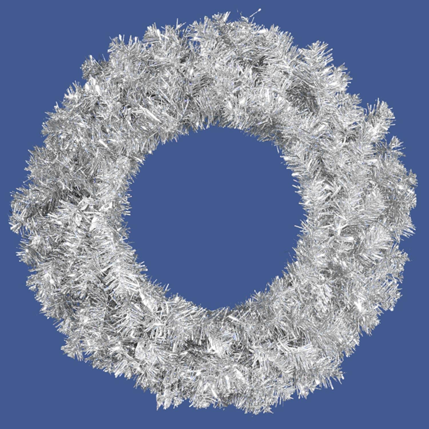 Amazon.com: Allstate Unlit Sparkling Silver Tinsel Artificial ...