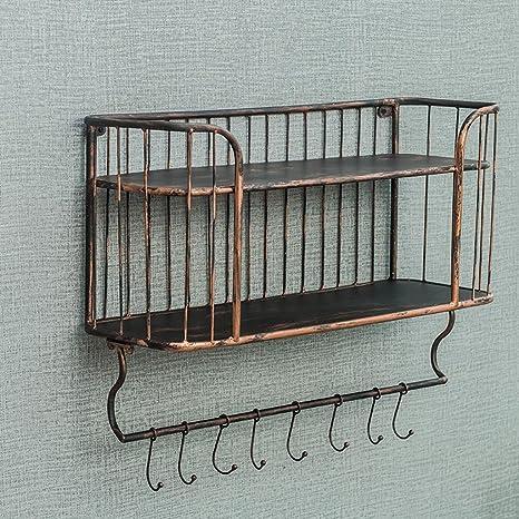 DZW mensole a muro di ferro da cucina in ferro battuto ...