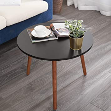 Soges Round Sofa Side Tables Coffee Tables Small End Tables Tea Tables Nesting Tables for Home Office,Oak CJ013-OW-CA