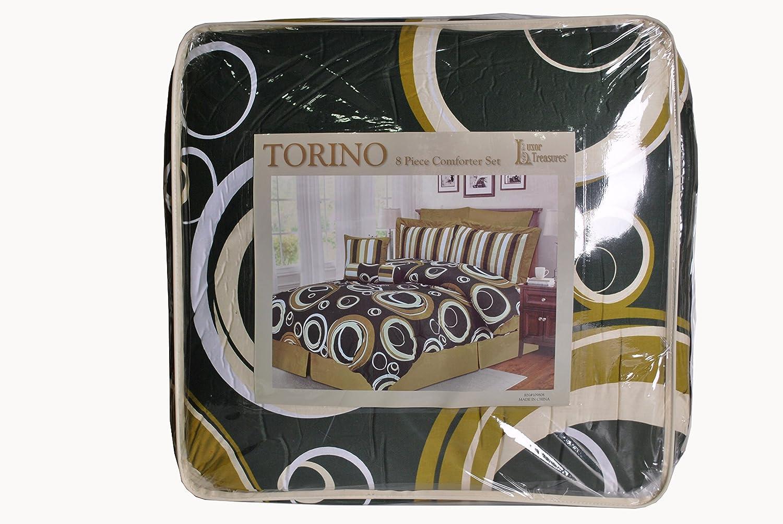 Luxor Treasures Torino Comforter Set With Shams Bed Skirt