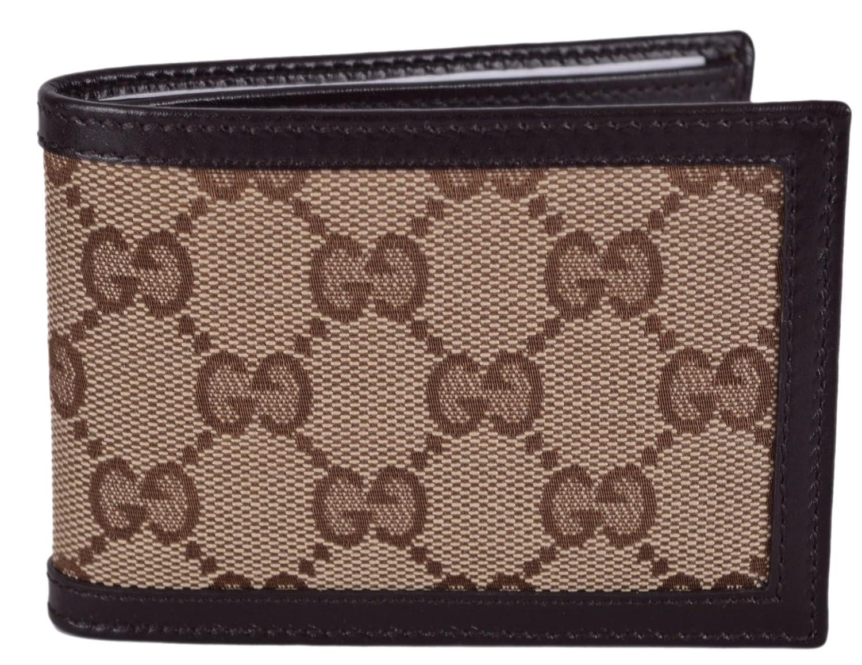 Amazon.com: Gucci Men\'s Beige Brown Canvas Mini GG Guccissima ...