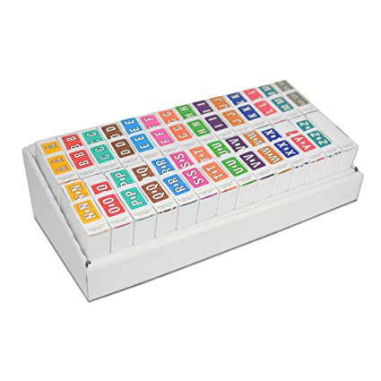 Superbe Alphabet Labels Complete Set  Colwell Jewel Tone Compatible (Polylaminated,  13.5k Labels/