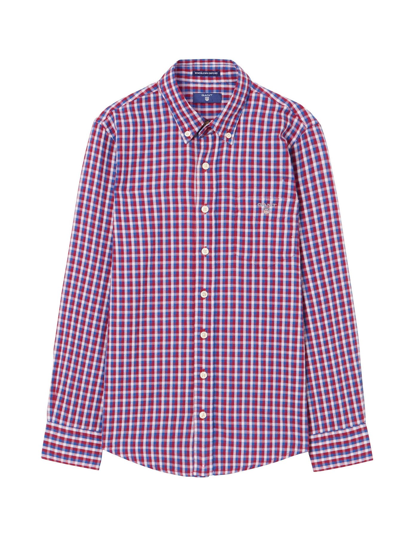 Gant Boy's Red Checked Shirt in Size 9-10 Years (134-140 cm) Red