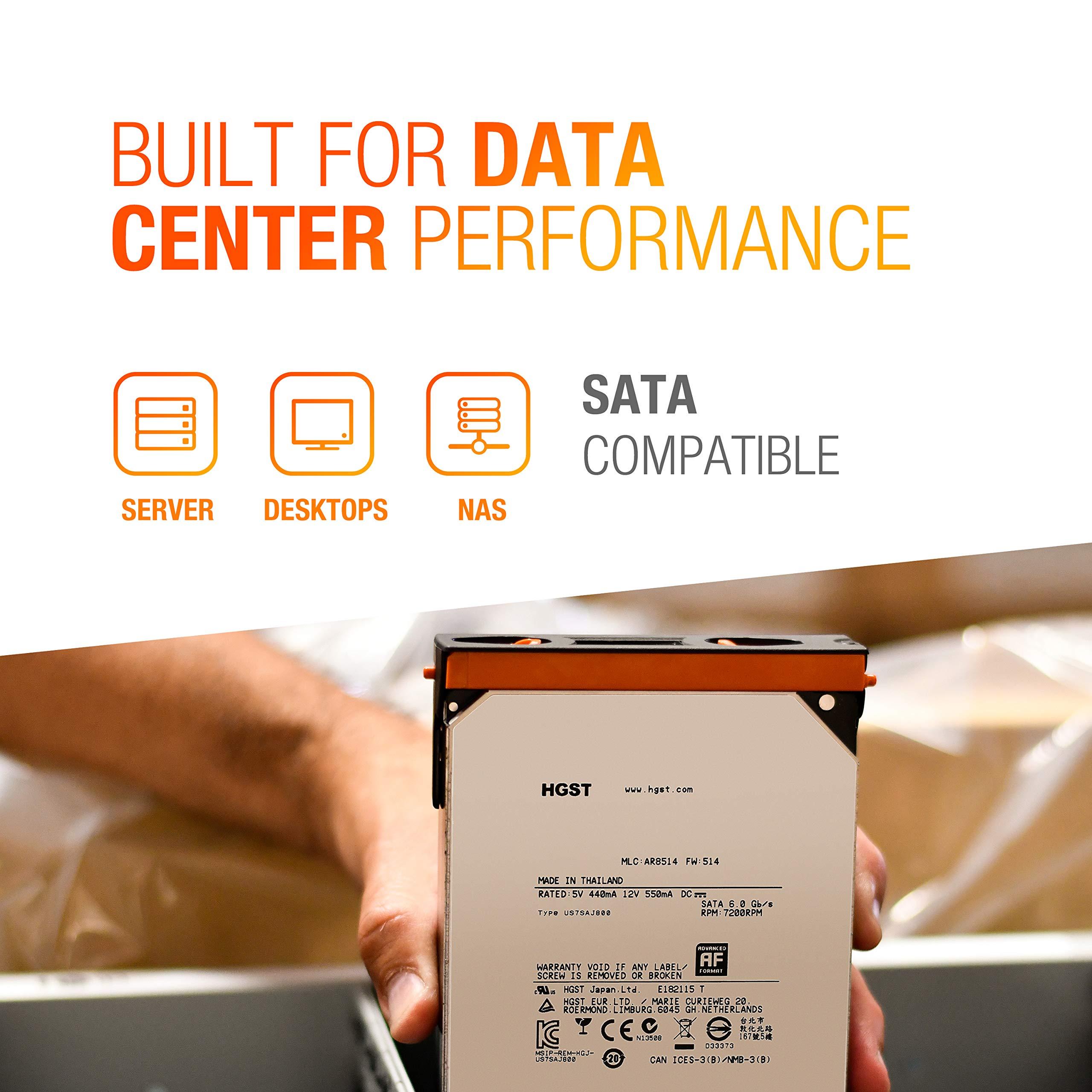 HGST Ultrastar He10 | HUH721010ALE600| 0F27452 | 512e | 10TB SATA 6.0Gb/s 7200 RPM 256MB Cache 3.5in | Enterprise Hard Drive HDD,  (Renewed) by HGST (Image #4)