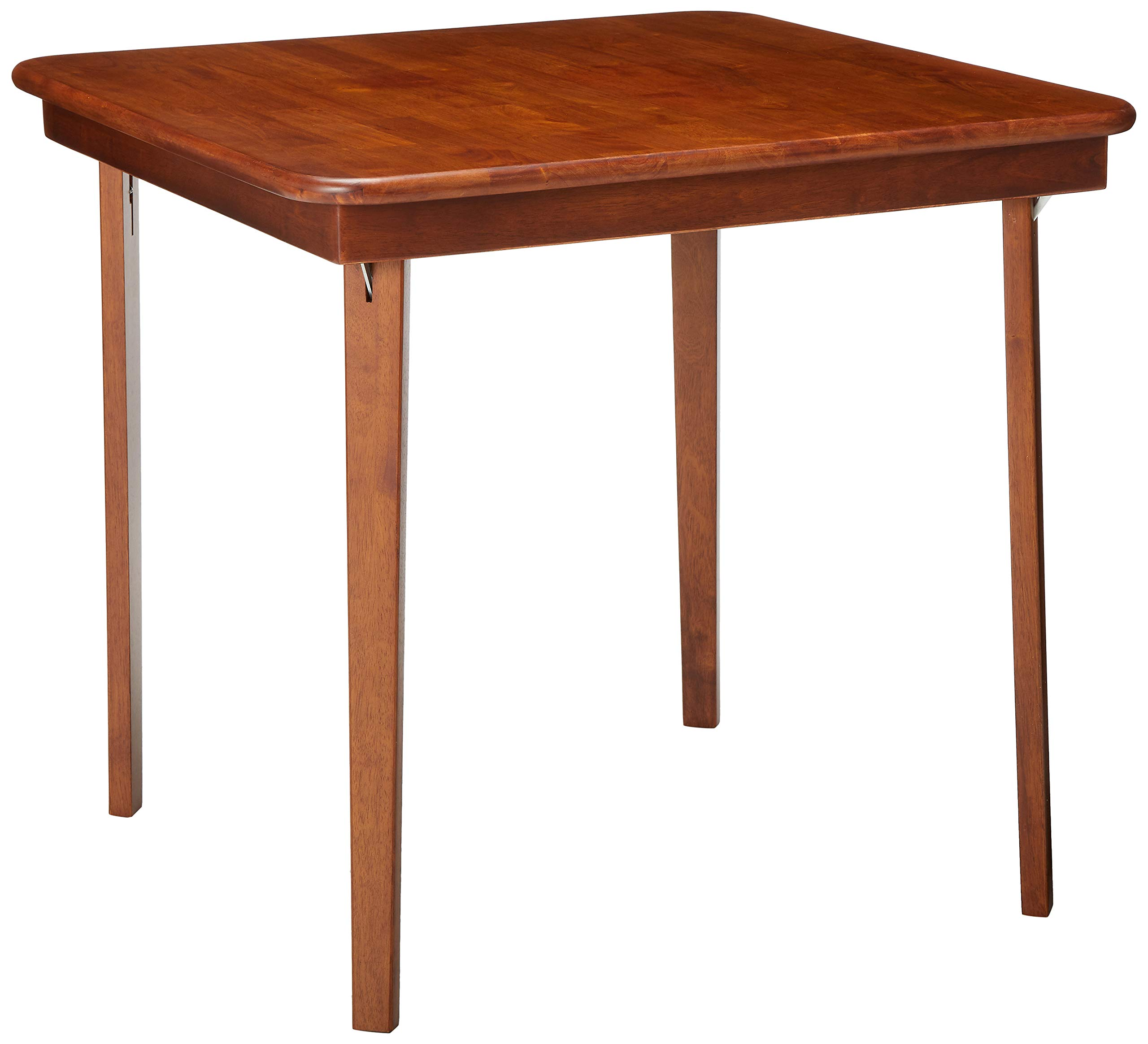 MECO 0056.00791 STAKMORE Straight Edge Folding Card Table Cherry Finish, by MECO