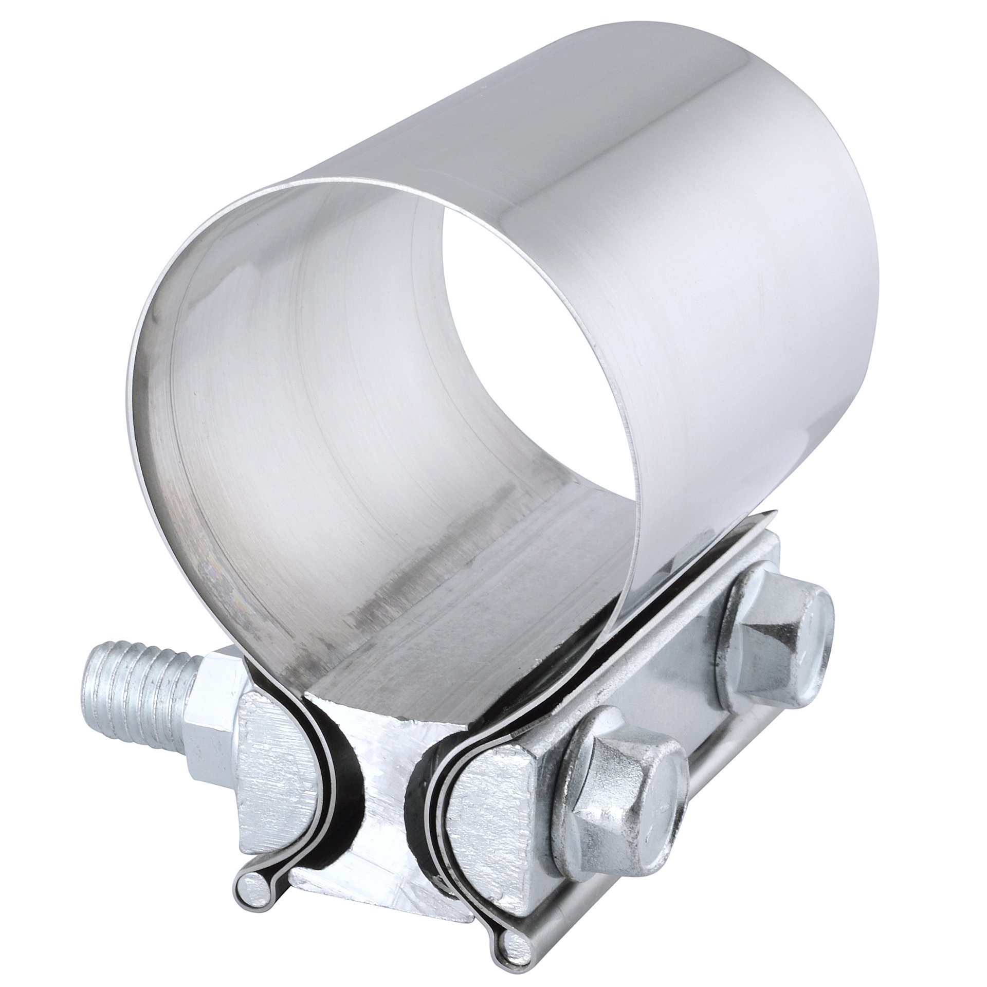 Evilenergy 3'' Butt Joint Stainless Steel Exhaust Sleeve Clamp Band