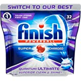 Finish Powerball Quantum Ultimate Dishwasher Tablets Superior Clean Original