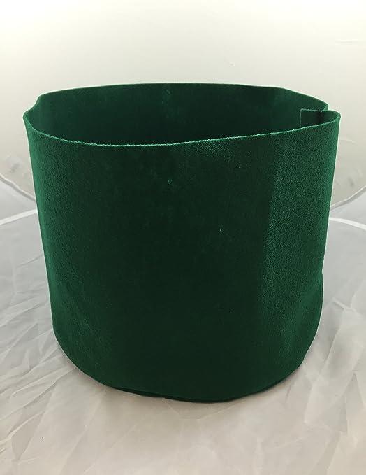5 gallon tela Pot – Hunter maceta de tela verde hecho de 100% botellas de plástico recicladas – 12 cm redondo x 10 cm (2): Amazon.es: Jardín