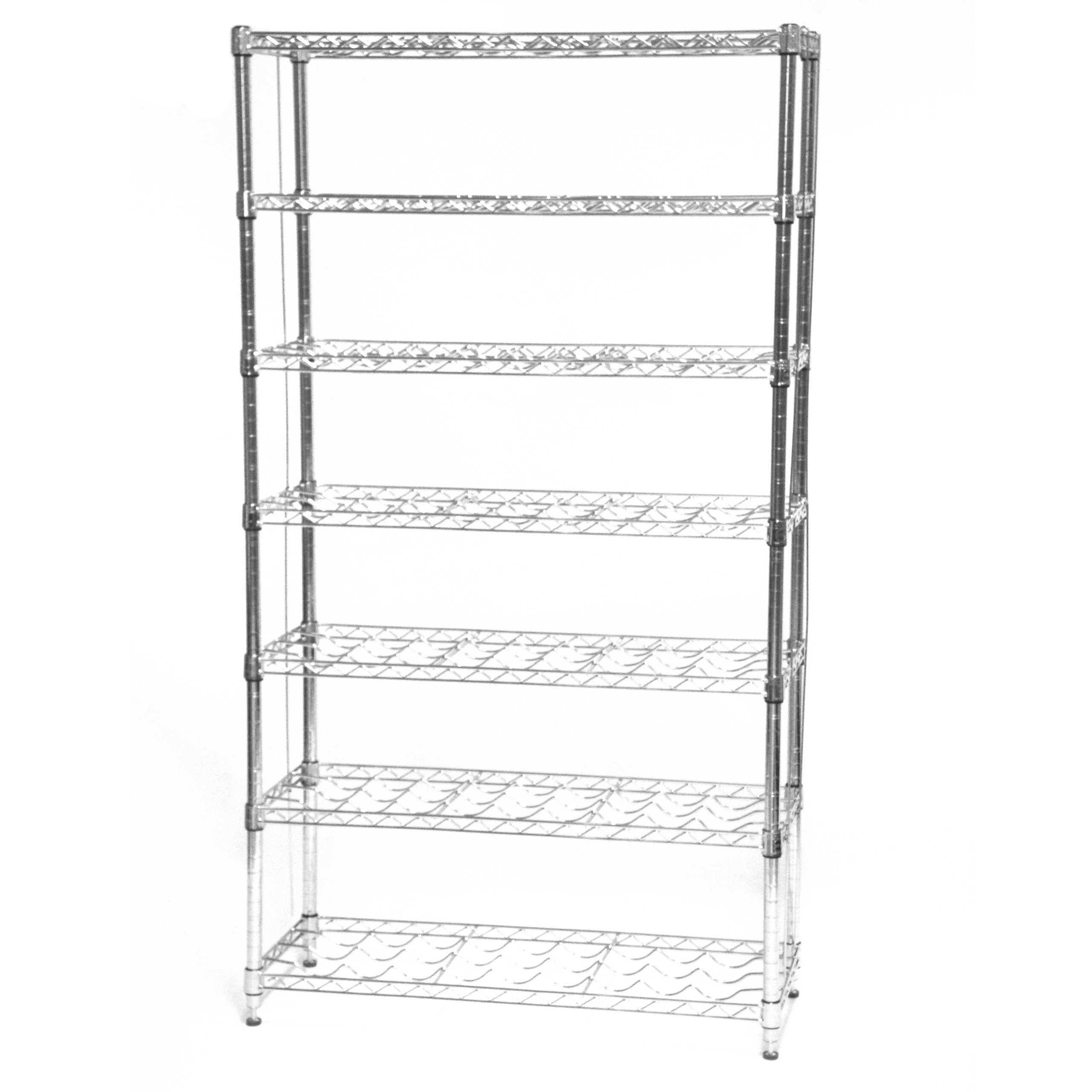 Seville Classics 168-Bottle 7-Shelf Wine Rack, NSF Listed by Seville Classics