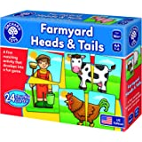 Orchard Toys Farmyard Heads and Tails - A Fun Matching Game for Younger Players from 18months + - Perfect for Home Learning