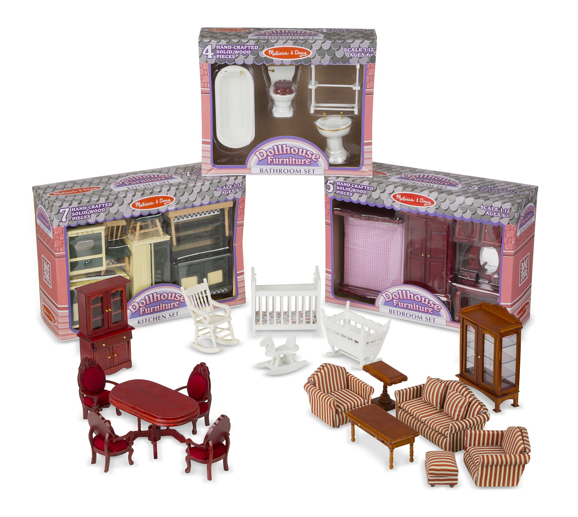 Melissa And Doug Wooden Kitchen: Melissa Doug Classic Victorian Wooden And Upholstered