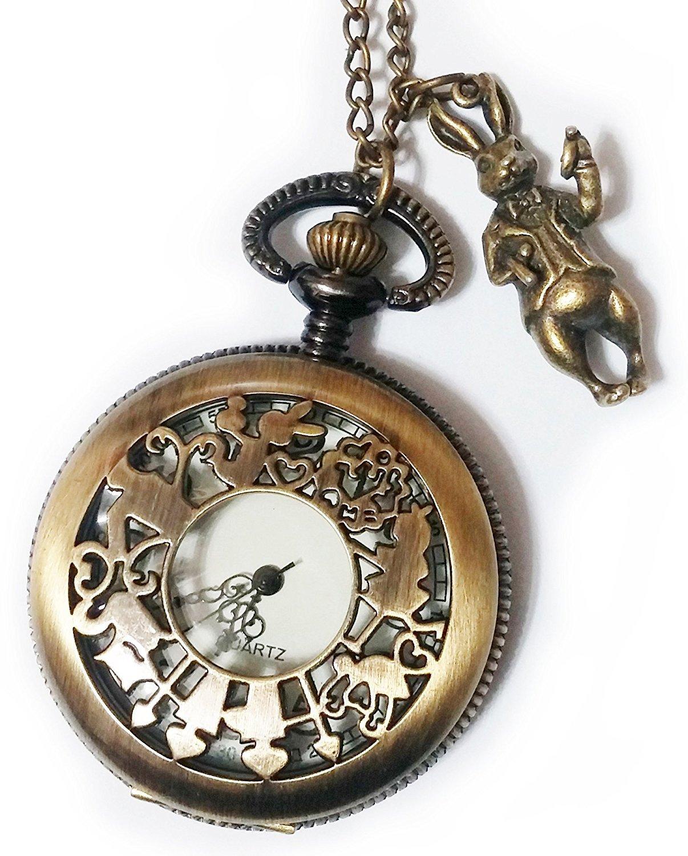 Amazon Com Alice In Wonderland Pocket Watch Necklace Chain