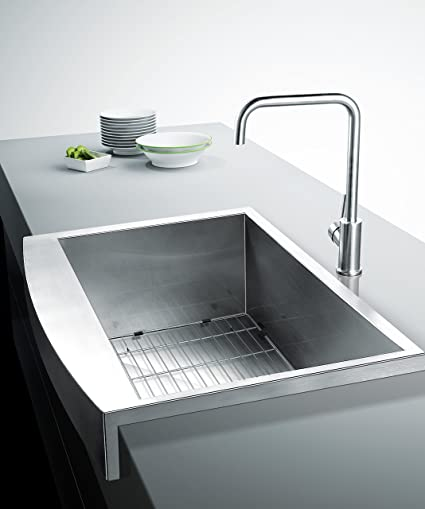 33u0026quot; Farmhouse Apron Stainless Steel Sink 16 Gauge Handmade Single Bowl  With Free Base Grid