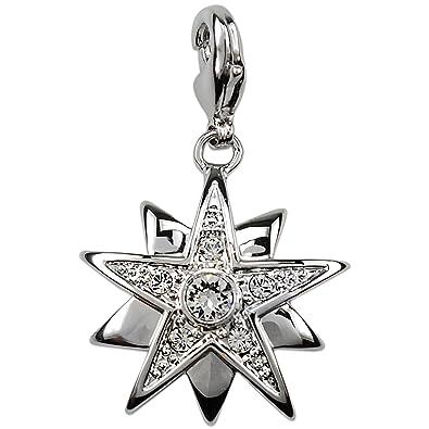 b308fa58f0b Simply Sissy Clear Star Pendant Necklace with Swarovski Crystals of Alp  Silver Pendant Star Rhodium Charm Bracelet Bracelet Fashion Jewelry:  Amazon.co.uk: ...