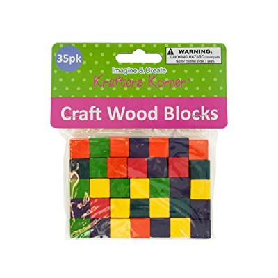 Kole Imports Colored Wooden Craft Blocks: Arts, Crafts & Sewing